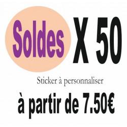 B) Stickers SOLDES Quantité 50