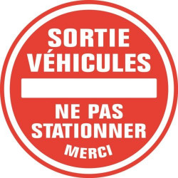 Sticker Sortie de véhicule merci de ne pas stationner