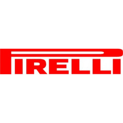 Sticker PIRELLI rouge et jaune