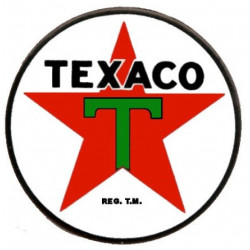 Sticker TEXACO rond vintage