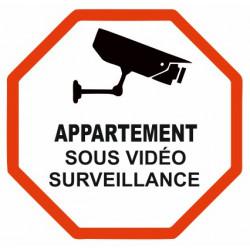 Sticker Appartement sous vidéo surveillance
