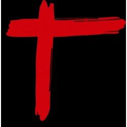 Sticker Croix Paradize avec fond