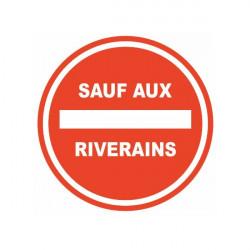 Sticker Interdiction parking sauf riverains