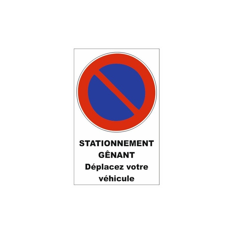 sticker interdiction de stationnement parking etiquette autocollant. Black Bedroom Furniture Sets. Home Design Ideas