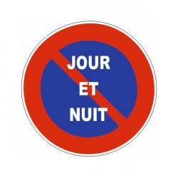 Sticker stationnement interdit jour et nuit
