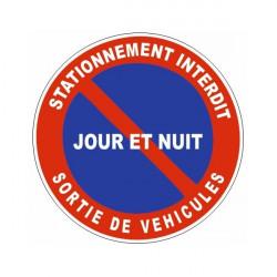 Sticker stationnement interdit sortie de véhicules