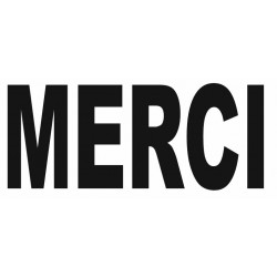 Sticker lettrage MERCI