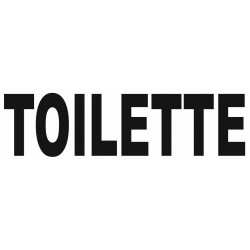 Sticker lettrage TOILETTE