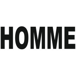 Sticker lettrage HOMME