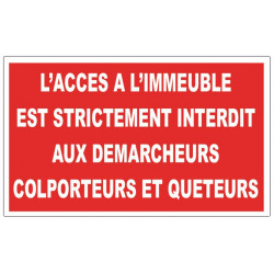 Sticker interdit aux démarcheurs