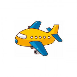 Sticker Avion mousse