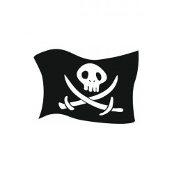 Sticker Pirate drapeau