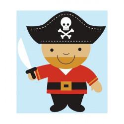 Sticker Pirate Oiseau rouge et noir