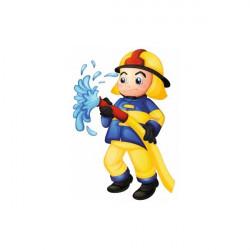 Sticker Pompier lance feu