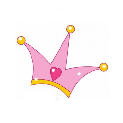 Sticker Princesse couronne