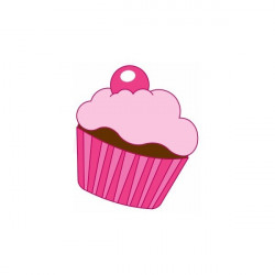 Sticker Princesse cup cake