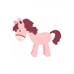 Sticker Princesse poney