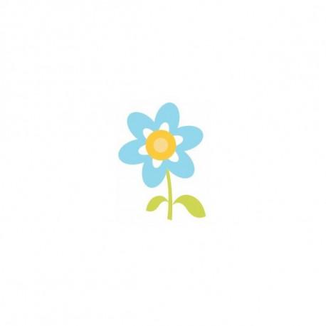 Sticker Princesse couronne jaune ciel coeur