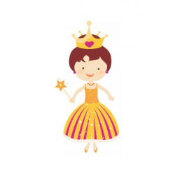Sticker princesse Reine