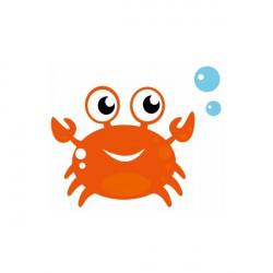 Sticker Mer crabe orange