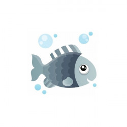 Sticker Mer petit poisson violet