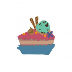 Sticker Cup cake Etoiles chocolat