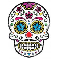 Sticker Tête de mort Yeux bleu