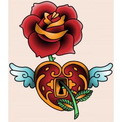 Sticker Tête de mort Rose