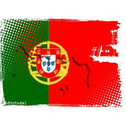 Sticker Portugal Coeur vide