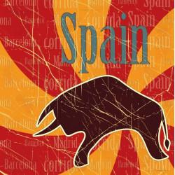 Sticker Espagne Pieuvre foot