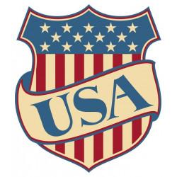 Sticker Etats Unis Drapeau Blason