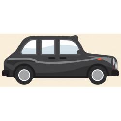 Sticker Londres taxi coté