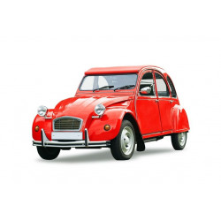 Sticker Voiture 2 CV rouge
