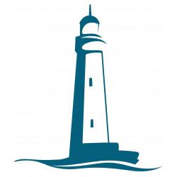 Sticker phare mer