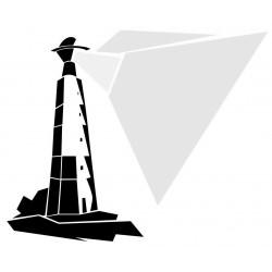 Sticker phare avec maison