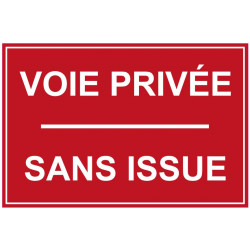 Sticker - voie privée sans issue