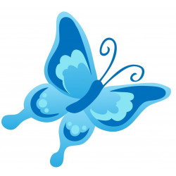 Sticker Papillon bleu pastel