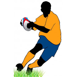 Sticker Rugby silhouette