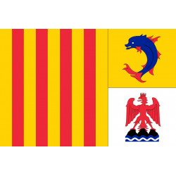 Sticker drapeau Provence Alpes Cote d'Azur