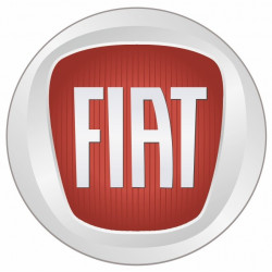 Sticker FIAT ROND GRIS ROUGE