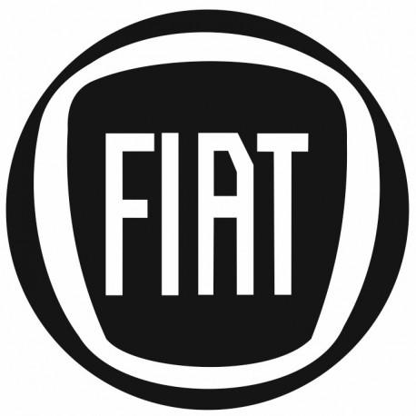 Sticker FIAT ROND NOIR BLANC