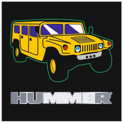 Sticker HUMMER CARRE NOIR