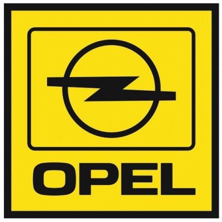Sticker OPEL CARRE JAUNE NOIR