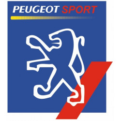 Sticker PEUGEOT LION CARRE BLEU