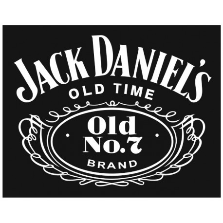 Sticker JACK DANIEL RECTANGLE NOIR
