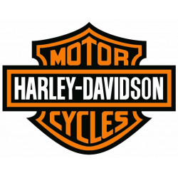 Sticker HARLEY DAVIDSON NOIR ORANGE