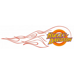 Sticker HARLEY DAVIDSON FLAMME