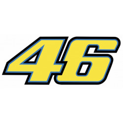 Sticker ROSSI 46 JAUNE