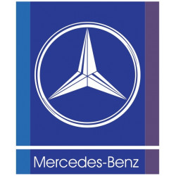 Sticker MERCEDES BENZ FOND BLEU