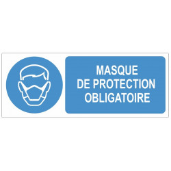 Sticker obligation - Masque de protection obligatoire